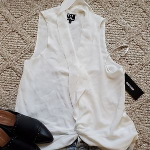 Nwt work layering top knotted